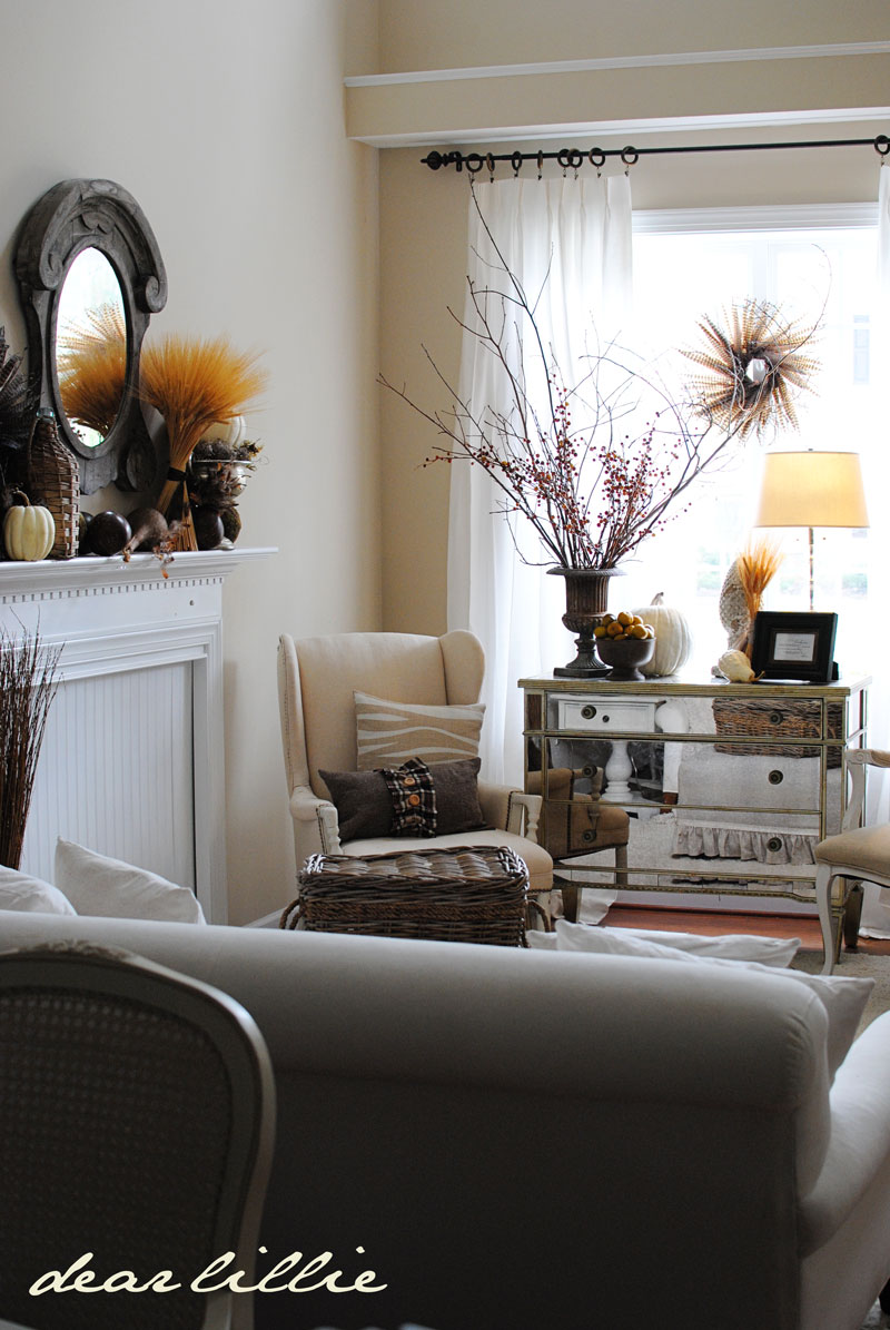 Autumn Living Room Decorating: Dear Lillie: Our Autumn Living Room, A Free Download AND A