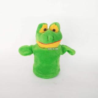 Boneka Tangan Hewan Katak Animal Hand Puppets