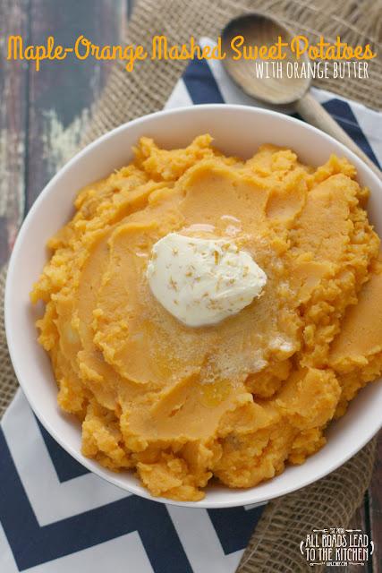 Maple-Orange Mashed Sweet Potatoes with Orange Butter