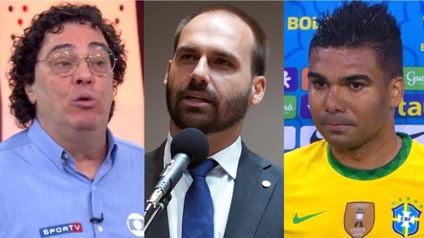 Casagrande e Eduardo Bolsonaro