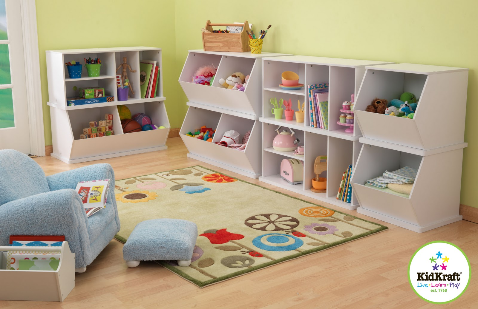 10 Types Of Toy Organizers For Kids Bedrooms And Playrooms: KidKraft Toys & Furniture: Brand New! KidKraft Storage