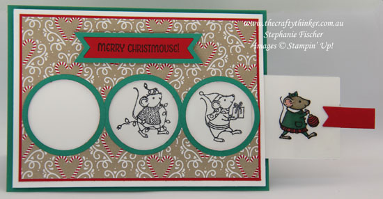 Stampin Up, #thecraftythinker, Christmas Card, Xmas Card, Magic Card, Merry Mice, Stampin Up Australia Demonstrator, Stephanie Fischer, NSW