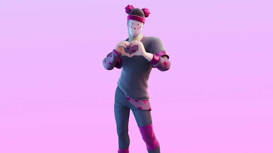 Pinkie, Fortnite, Valentines, Skin, Outfit, 4K, #7.1098