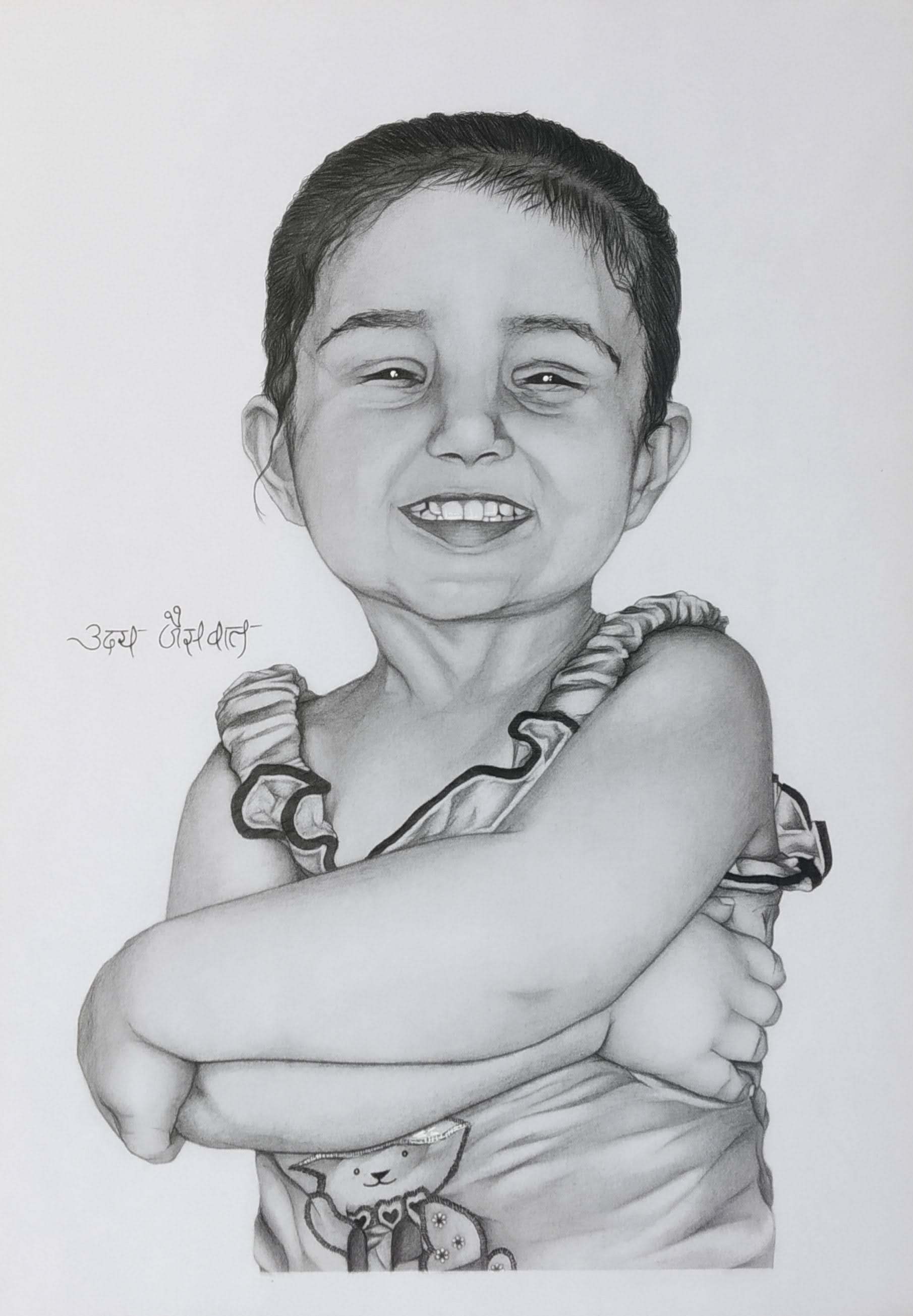 Ms. Ashnoor Kaur Childhood Portrait