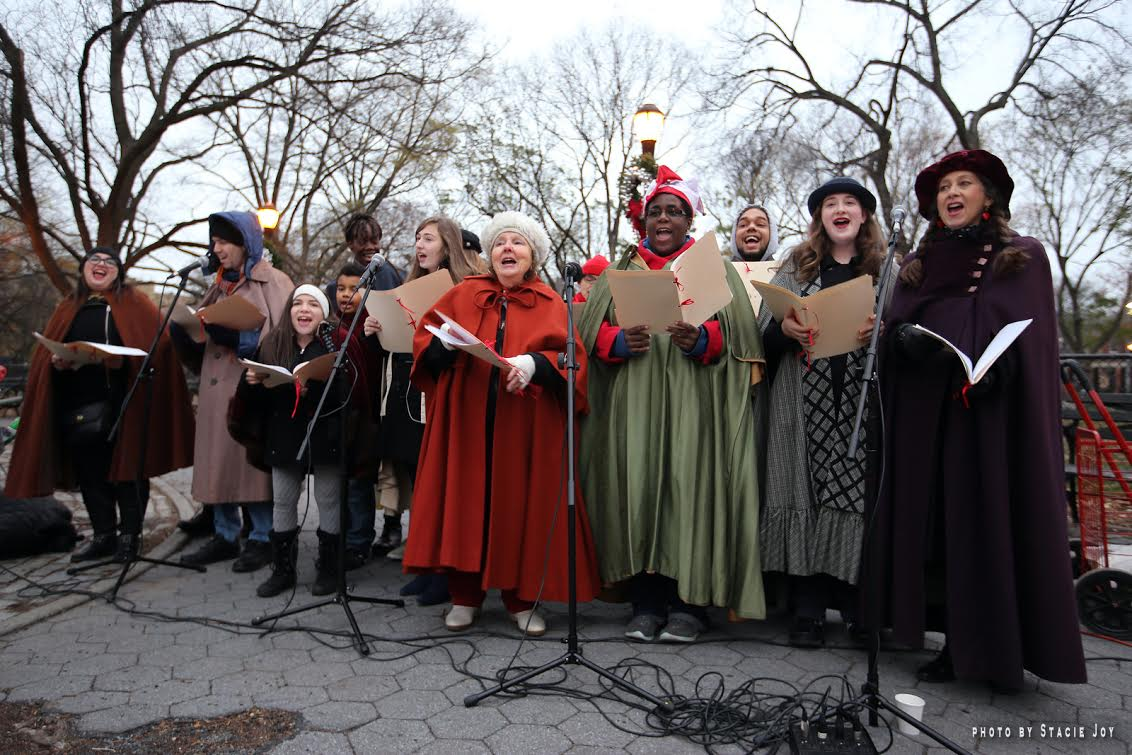 ev grieve at the 25th annual tompkins square park tree lighting
