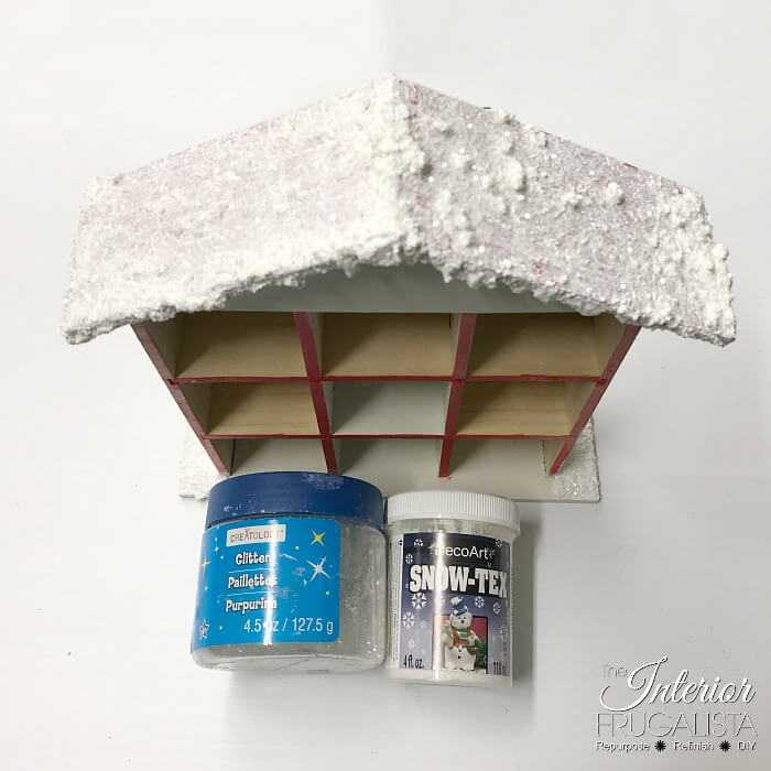 Christmas Countdown Santa Cottage Snow-Capped Roof