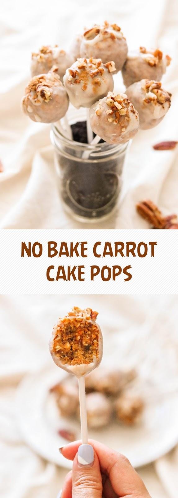 NO BAKE CARROT CAKE POPS (PALEO & VEGAN)