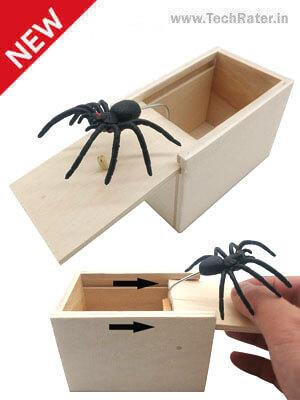 Wooden Surprise Box with Spider prank