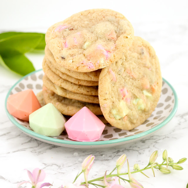 Easy Pastel Chocolate Chip Cookies for Mother's Day or Spring Brunch