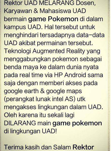Inilah 5 Tempat Yang Dilarang Untuk Main Pokemon GO! No 5 Paling Disertai Alasan yang Mencengangkan.