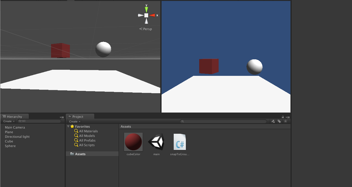 Snap object to the ground : Unity editor extension