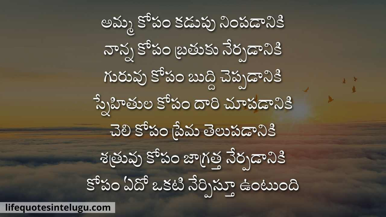 Angry Quotes In Telugu