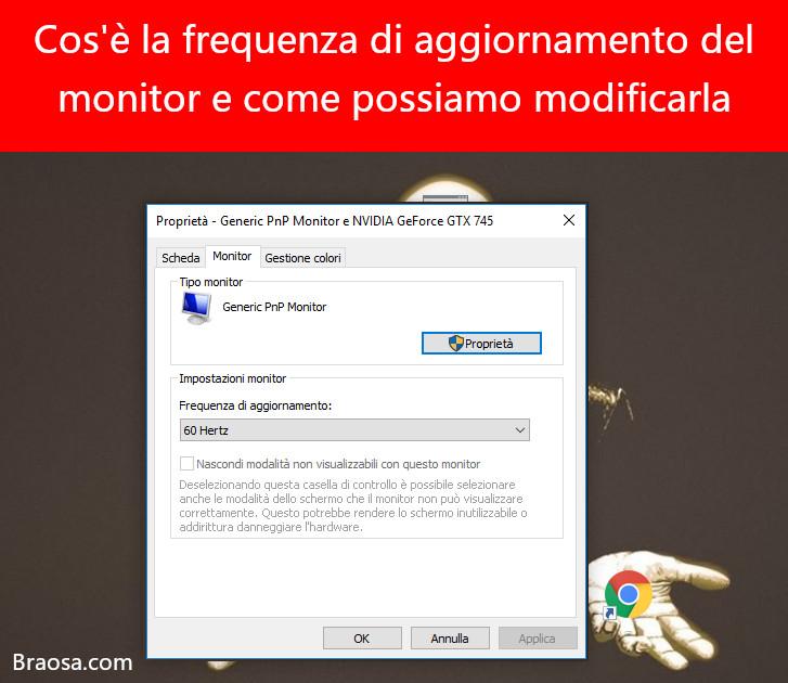 Cos'è la frequenza di aggiornamento di un monitor e come possiamo cambiarla