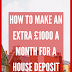 How to make £1000 a month for a house deposit
