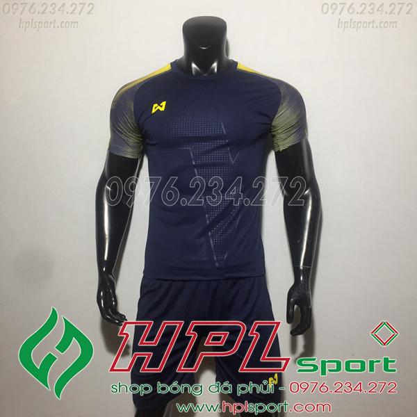 Áo bóng đá ko logo Warix HAT SG  Màu Đen