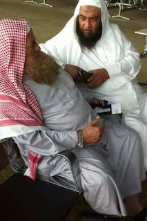 Syaikh Ali Hasan Al-Halabi dengan Syaikh Muhammad Musa Alu Nashr