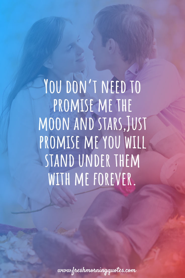 you dont need to promise me
