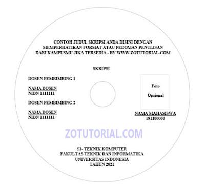 Label CD/DVD Blank Format Word docx Skripsi, Jurnal, TA, KP