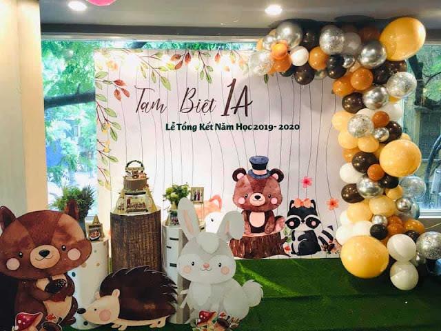 Trang trí lễ tổng kết năm học tại Hà Nội