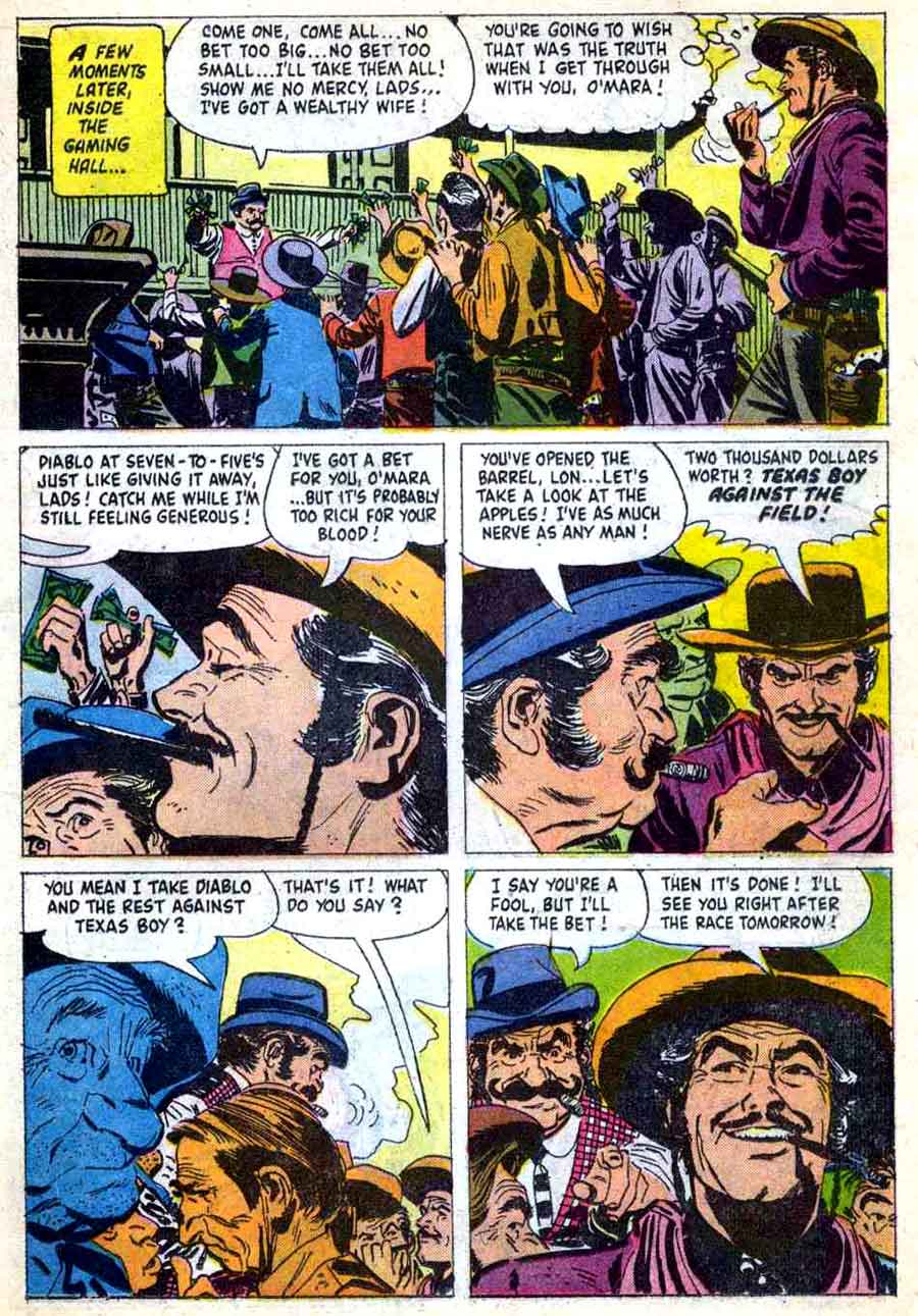 Sugarfoot / Four Color Comics #992 dell western comic book page art by Alex Toth