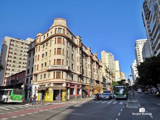 Fotocomposição com o Edifício Bracaiuva e Avenida São João - Santa Cecília - São Paulo