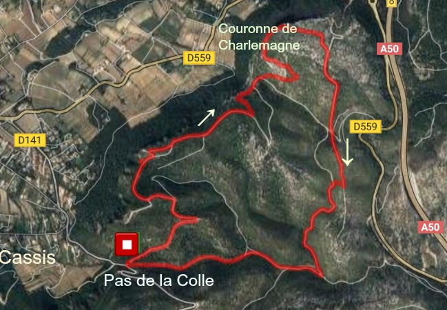 Couronne de Charlemagne hike trail