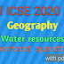 Icse 2020 ll Geography important questions from water Resources ll Master Mind