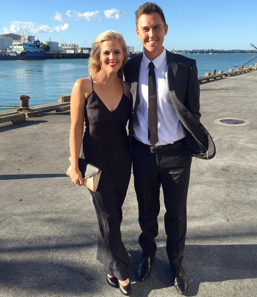 trent boult wife name is gert smith