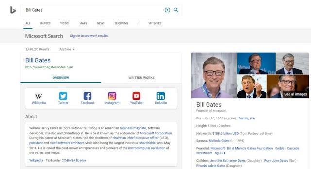 مايكروسوفت تسمح للأشخاص بإنشاء صفحة علامة تجارية على Bing