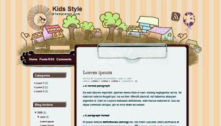 KID STYLE Blog Template