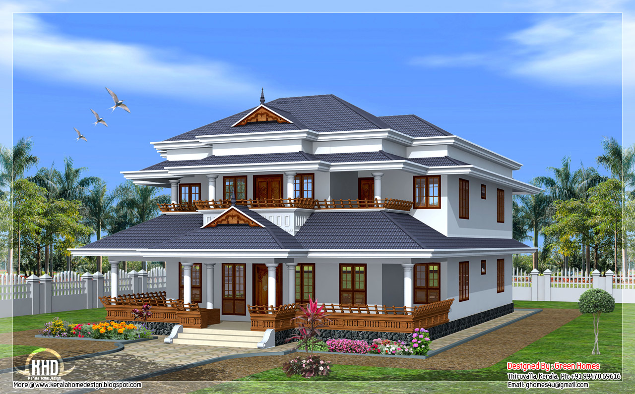 Traditional kerala style home kerala home design and for Colonial style home design in kerala