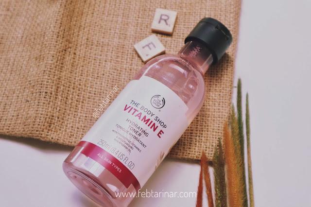Review Vitamin E Hydrating Toner The Body Shop, Toner Bagus Untuk Kulit Kering. beauty blogger bandung