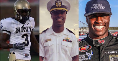 Navy Officer, Midshipman, rookie, Jesse Iwuji ready for #ARCA debut.