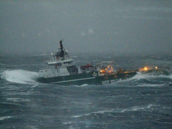 dearmum: ships in rough seas..