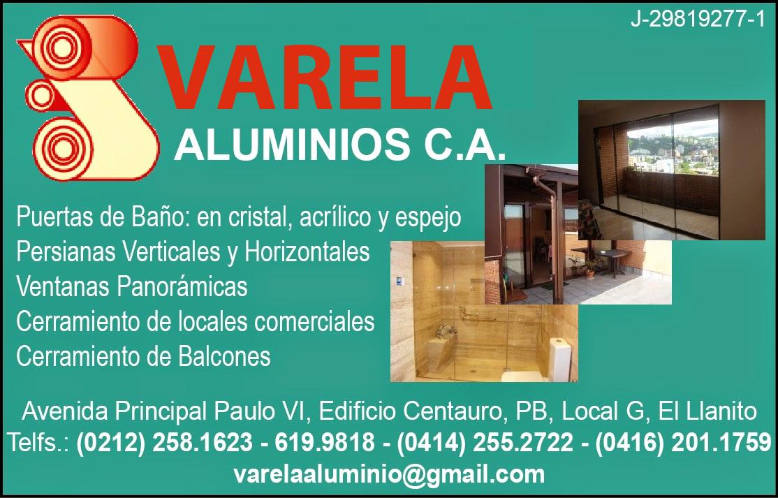 VARELA ALUMINIOS C.A. en Paginas Amarillas tu guia Comercial