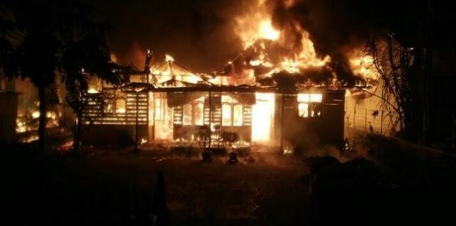 Kebakaran di Matangglumpangdua,Bireuen