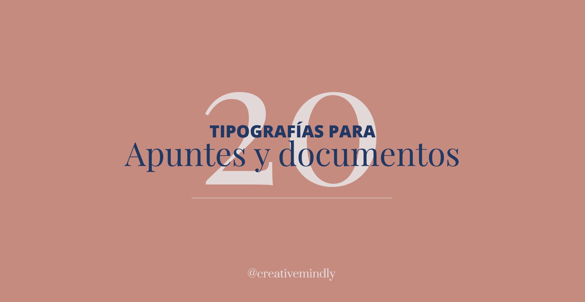 tipografias letras documentos y apuntes