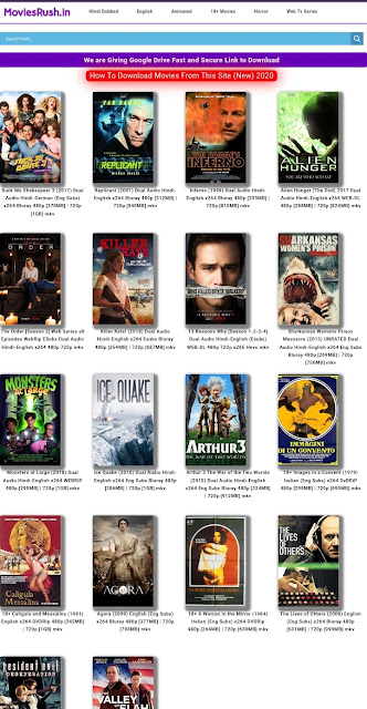 MoviesRush Premium WordPress Theme Free Download (2020)