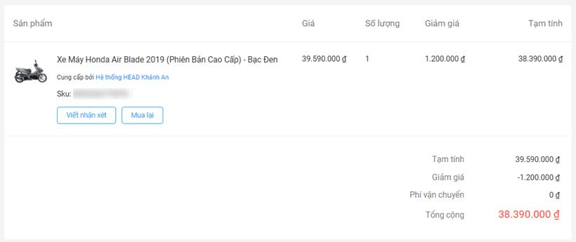 Có nên mua xe máy trên Tiki