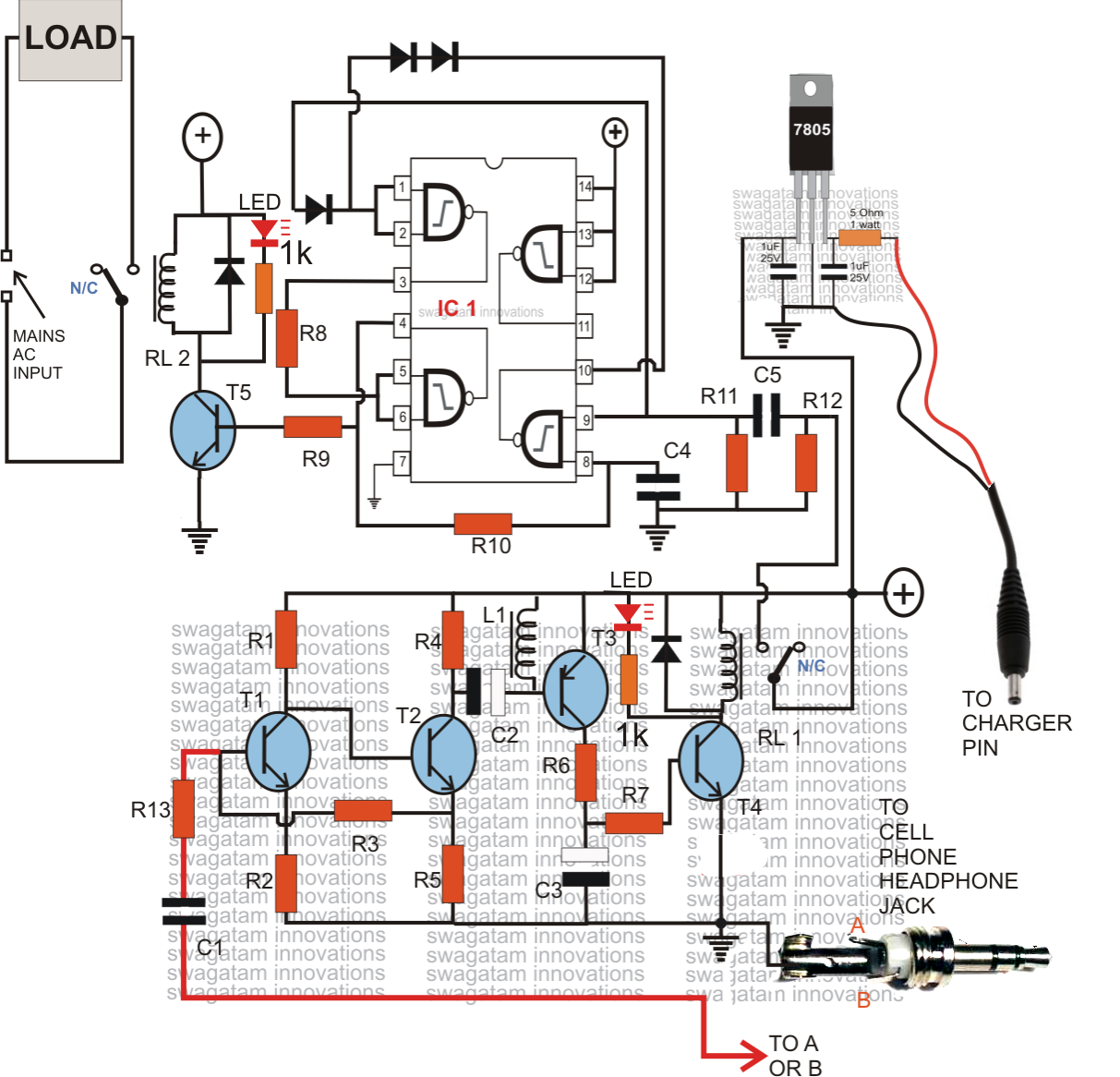 Mobile Motor Starter Circuit Diagram Dtmf Based Load Control System Cell Phone Controller