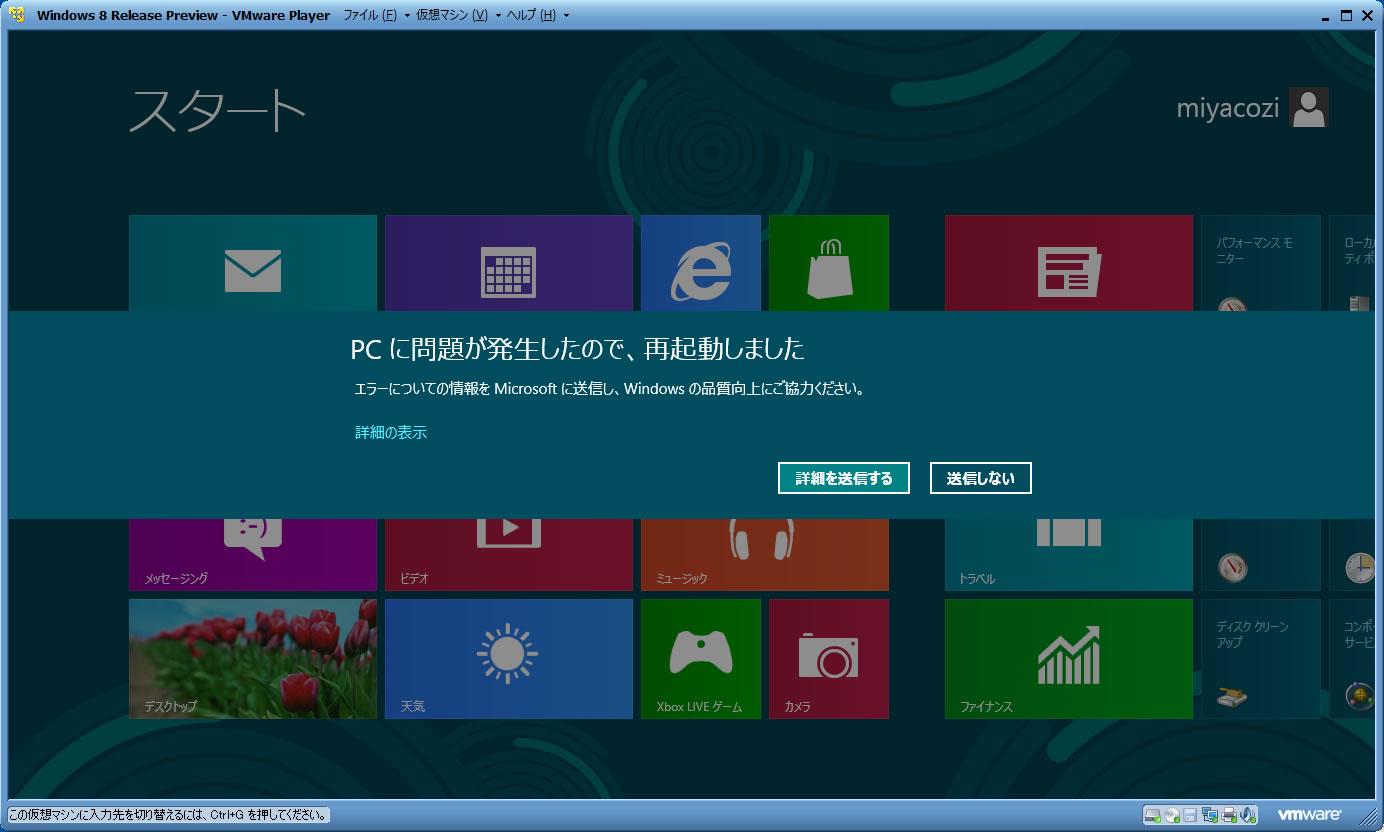 Windows 8日本語版のブルースクリーン -2