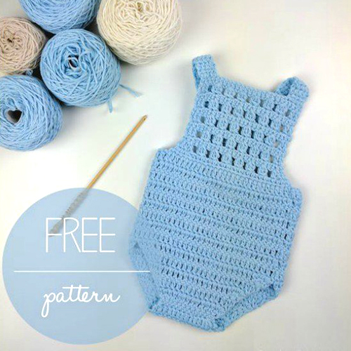 Blue Orchid Baby Romper - Free Pattern