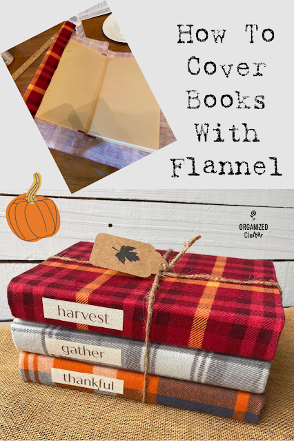 Photo of flannel covered books.