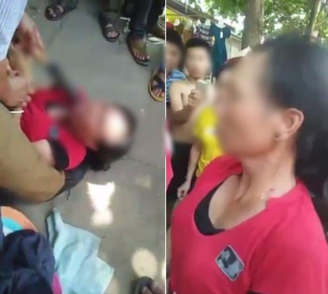 Người phụ nữ bị người dân dí dao vào cổ yêu cầu khai báo việc bắt cóc trẻ em