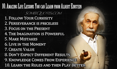 10 Amazing lessons you can learn from Albert Einstein