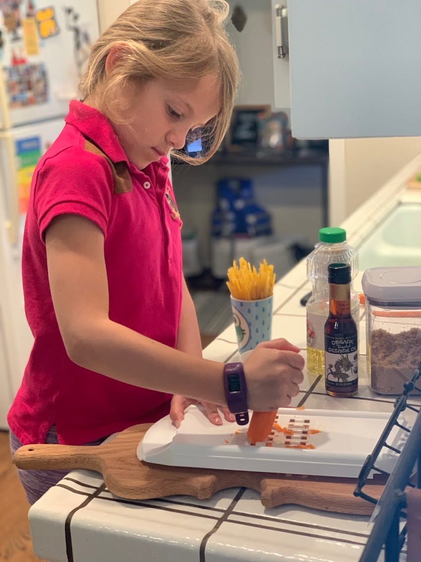 Cooking at home with kids