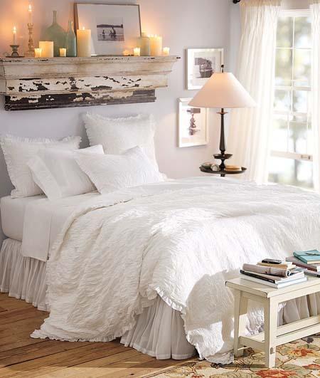 Dormitorios blancos for Mensole per quadri