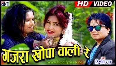गजरा खोपा वाली Gajra Khopa Wali  Lyrics in Hindi - Dilip Ray । Hindilyricszone.in।