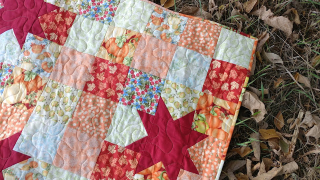 Autumn quilt made with Pumpkin Spice fabrics