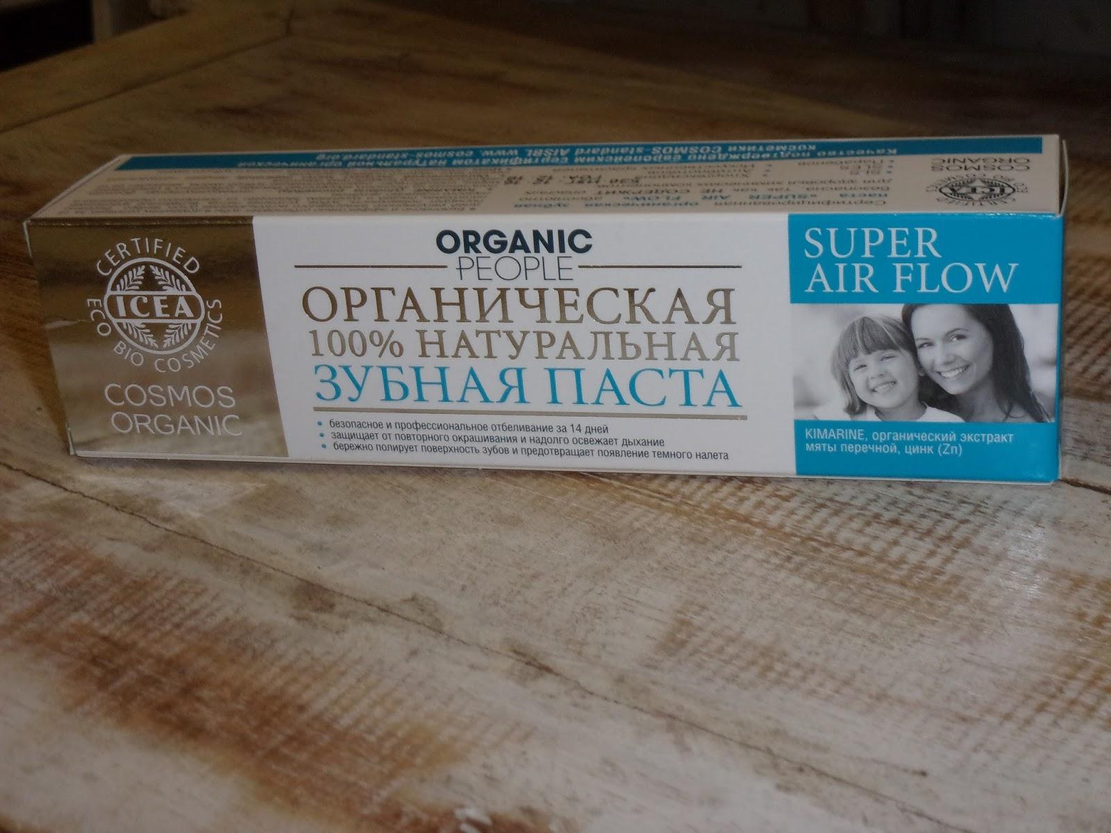 Wybielająca pasta do zębów firmy Organic People